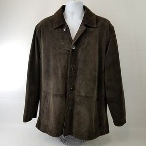 J Crew Men's Suede Leather Jacket Espresso Brown